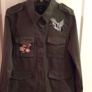 Military women's bottom down jacket
